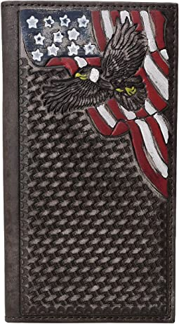 Basketweave Patriotic Rodeo Wallet
