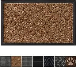 GRIP MASTER Durable All-Natural Tough Rubber Doormats, 29x17 Size, Waterproof Boots Scraper Mats, Heavy Duty Indoor Outdoor Door Mat for Winter Snow, Low-Profile Easy Clean, Beige Basket Weave