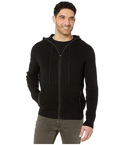 Calvin Klein Textured Hoodie Full Zipper 12GG (Black) Men