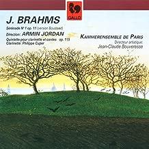 Brahms: Serenade No. 1 in D Major, Op. 11 – Clarinet Quintet in B Minor, Op. 115