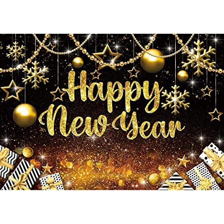 CSFOTO 14x10ft Happy New Year Backdrop Fireworks Champagne Celebrate 2021 New Year Background for Photography Christmas Party New Year Decor Banner Christmas Photo Wallpaper