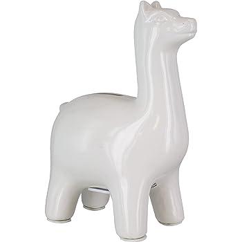 White Hapros Llama Coin Bank 10