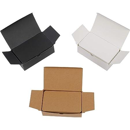 Tarjetas de Papel en Blanco 300 Piezas Tarjetas para Escribir Bloc de Notas para Memorizar DIY Mensaje Etiquetas de Regalo 9x5.4 cm (Blanco/Negro/Kraft)