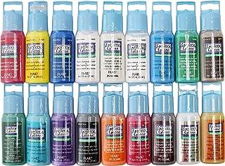 Plaid Gallery Glass Window Color Paint Set (2-Ounce), PROMOGGI (18-Colors)