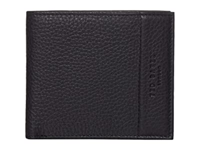 Ted Baker Carabas Leather Bifold with Coin (Black) Wallet Handbags