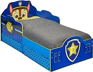 Paw Patrol Bett mit Aufbewahrungsschublade für Kleinkinder, Holz blau 143 x 77 x 68 cm