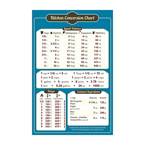 Cooking Conversion Chart Amazon