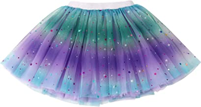 Simplicity Baby Girl's Rainbow Tutu Skirt 4-Layer Tulle Princess Ballet Dress