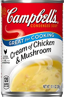 Campbell's Condensed Cream of Chicken & Mushroom Soup, 10.5 oz. Can (Pack of 12)