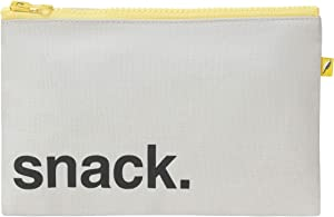 Fluf Zip Snack Sack: Reusable Snack & Sandwich Bag, Zipper Closure   100% organic cotton with RPET lining   Tested Food-Safe   Rinsable & Machine Washable (Snack Black, Snack)