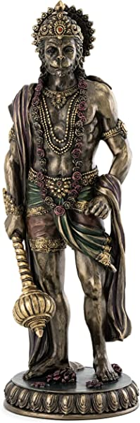 Top Collection Standing Hanuman Statue Hindu God Of Strength Perseverance And Devotion Sculpture In Premium Cold Cast Bronze 10 25 Inch Collectible Figurine