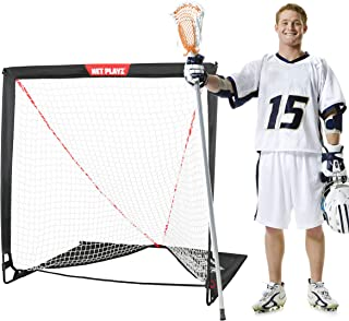 4 x 4 x 4 Feet Lacrosse Goal Fast Install, Fiberglass Frme, Lightweight, Foldable, Portable, Carry bag Included