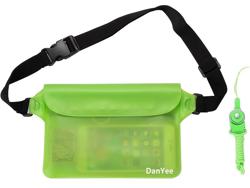 成功したラリーベルモントフラッシュのように素早くDanyee 防水ポーチ 防水ケース [一年間品質保証] 3重チャック PVC素材 (ブルー) 海水浴 プール 釣り バイク ウエストバッグ 防水パック 携帯