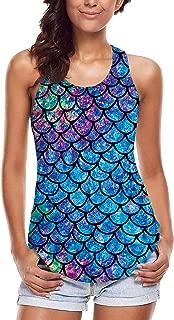 Women's Cool Design 3D Printed Sleeveless Racerback Tank Top Vest Shirts