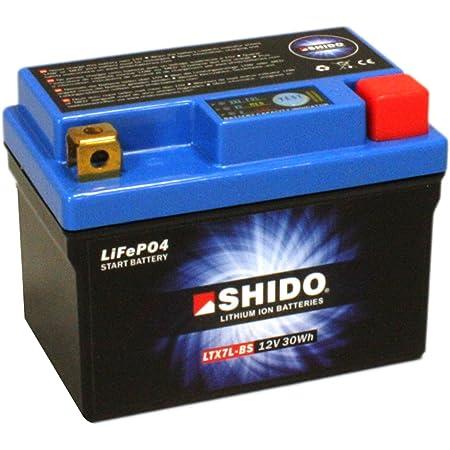 Batterie Shido Lithium Ltx7l Bs Ytx7l Bs 12v 6ah Maße 114x71x131 Für Kawasaki Kfx450 R Baujahr 2014 Auto