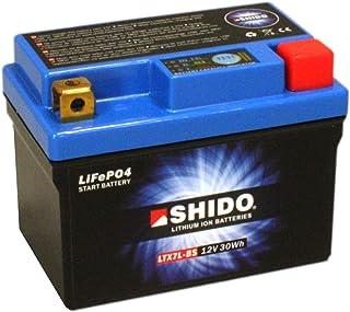 Batterie Shido Lithium LTX7L BS / YTX7L BS, 12V/6AH (Maße: 114x71x131) für Kawasaki KFX450 R Baujahr 2014
