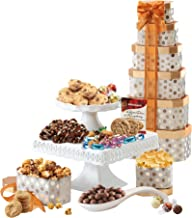 Broadway Basketeers Towering Heights Assorted Chocolate, Cookies and Sweets Gift Tower