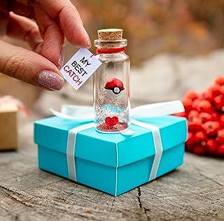 My best catch Pokemon I choose you gift bottle 1 year anniversary gifts for girlfriend Boyfriend one year anniversary gifts for him