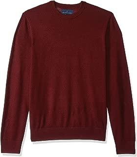 Amazon Brand - BUTTONED DOWN Men's Italian Merino Wool Lightweight Cashwool Crewneck Sweater