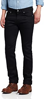 Naked & Famous Denim Men's SkinnyGuy Jean In Black Power-Stretch