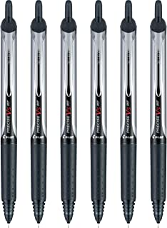 PILOT Precise V5 RT Refillable & Retractable Liquid Ink Rolling Ball Pens, Extra Fine Point (0.5mm) Black Ink, 6-Pack (13613)