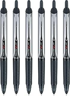 Pilot Precise V5 Retractable Premium Rolling Ball Pens, Extra Fine Point, Black, 6 Pack (13613)
