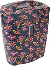Shredder for Home or Office with Fashionable Floral Appearance: 10 Sheet, Cross Cut, 5.5 Gallon Waste Bucket, 2 Minute Run Time, Shreds Credit Cards, Clips and Staples, 5.5 Gallon Waste Bucket