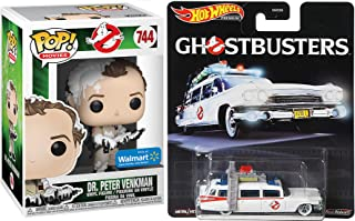 Hot Wheels Marshmallow Ghostbusters Ecto-1 Movie Ambulance Premium Car Bundled with Bill Murray Figure Exclusive 2 Items W...