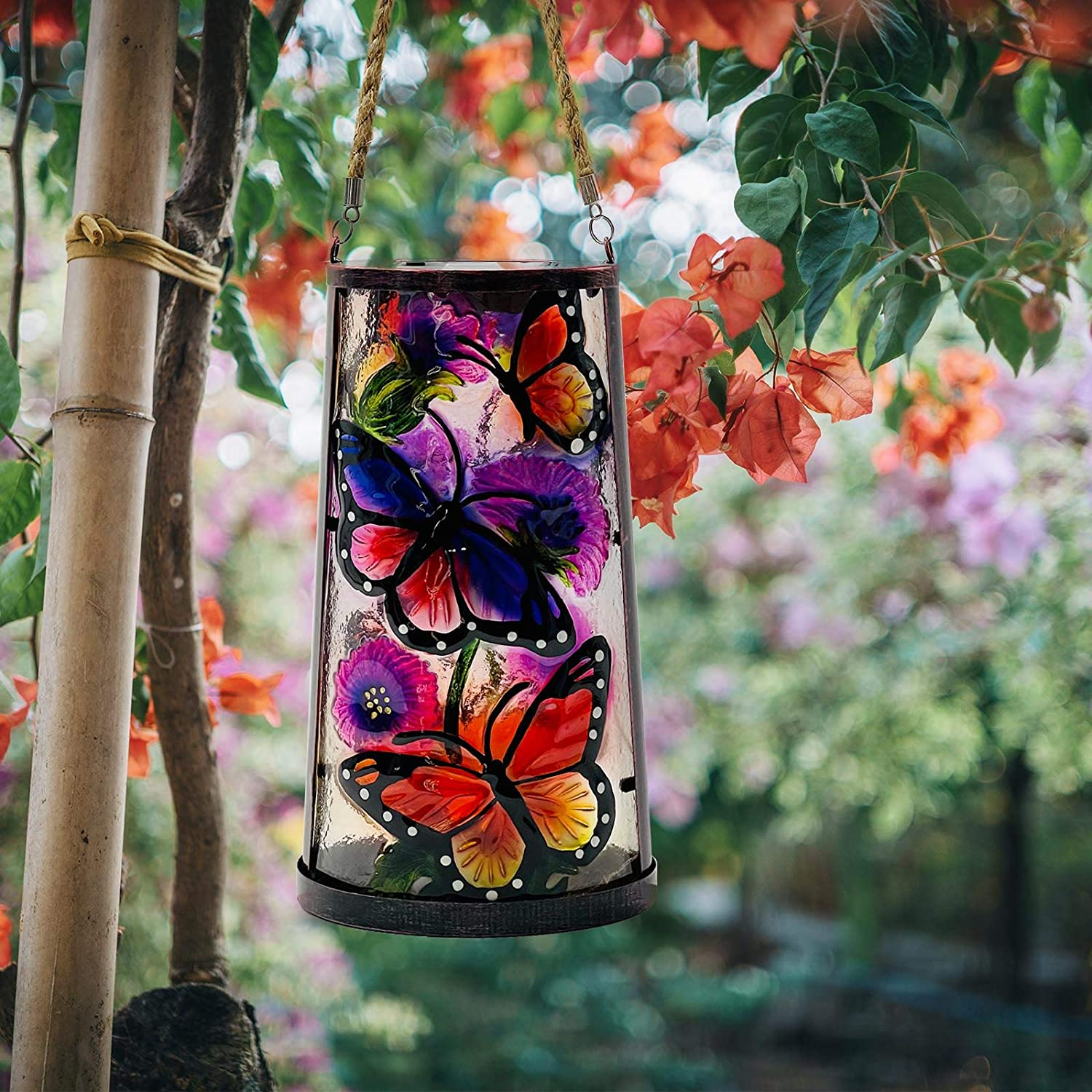 Opening large release sale SUBOLO Hanging Solar Lantern Outdoor Popular product LED Decorative Butt