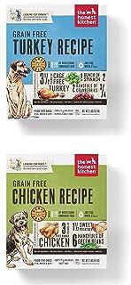 Honest Kitchen Grain Free Dehydrated Dog Food 2 Pack Bundle; Turkey 2 lb. Box Chicken 2 Lb. Box. (4 Lbs.Total)