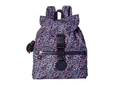 Kipling Keeper Print Backpack (Glistening Poppy Blue) Backpack Bags
