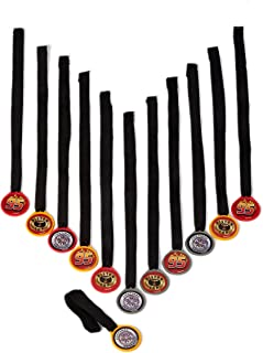 Disney Cars Formula Racer Birthday Party Mini Award Medal Favour, Pack Of 12, Multi , 13