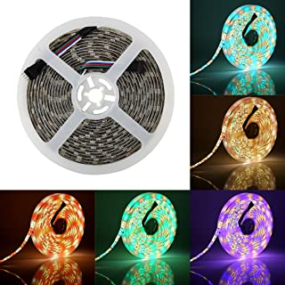 SUPERNIGHT RGBW LED Strip Light RGB Color Changing Rope Lighting with Warm White 3500K Color 16.4ft 300leds 5050 Tape Light (RGB + Warm White)