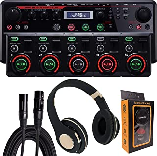 Boss RC-505 Loop Station with Bluetooth Headphone, XLR Cable and Magnet Phone Holder Pack1
