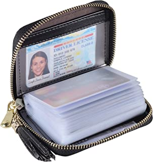 Yuhan Pretty Womens Credit Card Holder Wallet RFID Leather Small ID Card Case