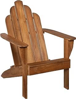 SEI Teak Adirondack Chair - Outdoor Patio Teak-Wood Chair