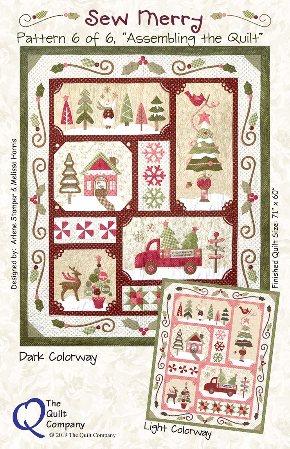 Sew Year-end gift Merry Quilt Patterns Max 75% OFF Accessory The Company Pack 6 by