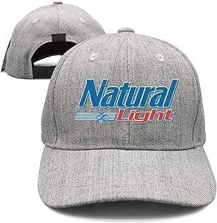 AOAOAOUV Men Unisex Adjustable Busch-Light-Beer-Coat-hat-Black-Baseball Cap Dad Flat Hat