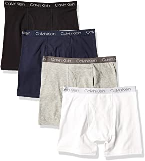 Calvin Klein Boys Underwear 4 Pack Boxer Briefs Value Pack