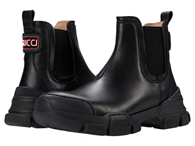 Gucci Kids Leon Leather Boot (Little Kid) Kid
