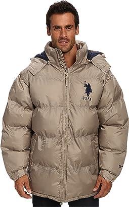 Signature Long Bubble Coat w/ Large Pony & Polar Fleece Lining
