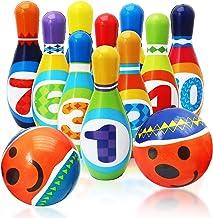Twiddlers Juego de Bolos Suave para Niños - Bowling Set Incluye 10 Bolos de Espuma Multicolores con Caras Lindas y 2 Pelotas - Diversión niños pequeños y bebés - Ideal Juguete para el hogar.