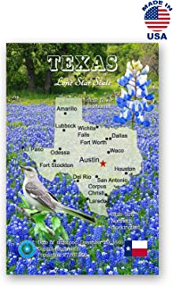 TEXAS MAP postcard set of 20 identical postcards. TX state map post cards. Made in USA.