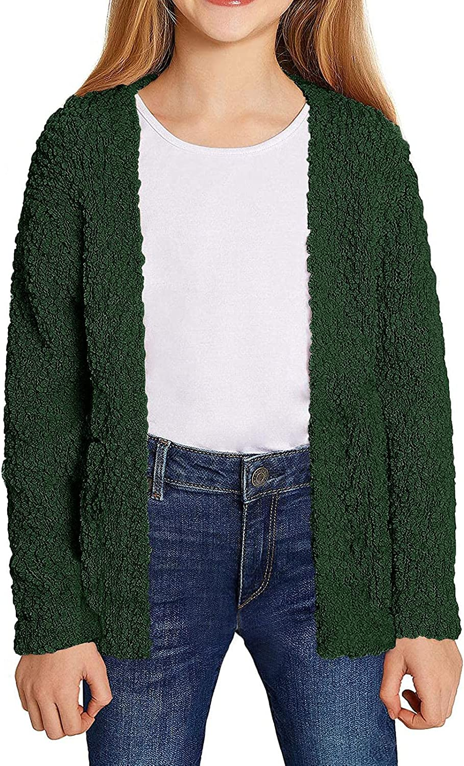 Girls Kids Casual Quality inspection Cardigans Sweaters Sweater Front Open Max 77% OFF Knitted