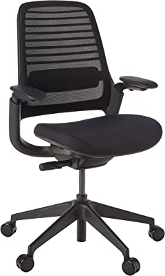 Steelcase Series 1 Office Chair, Carpet Casters, Licorice/Black