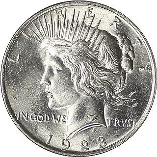1923 P Peace Silver Dollar $1 Gem Uncirculated