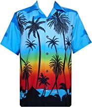 Hawaiian Shirt Mens Beach Aloha Party Holiday Short Sleeve Camp