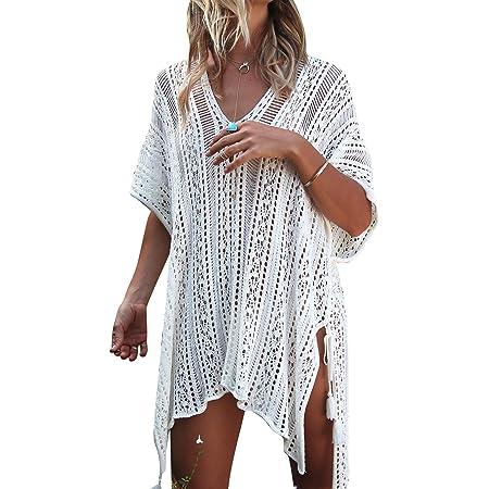 Keven Damen Strandkleid Kurz Sommer Cover Up Bikini Kleider