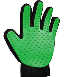 Zenify Pets Hair Grooming Glove Mitt for Deshedding Fur Removal from Pet Cats, Kittens, Rabbits, Guinea Pigs, Dogs, Puppie...