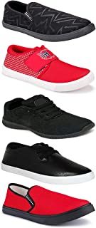 WORLD WEAR FOOTWEAR Sports Running Shoes/Casual/Sneakers/Loafers Shoes for MenMulticolors (Combo-(5)-1219-1221-1140-748-1109)